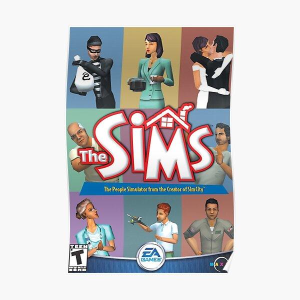 Sims 1 Box Art Póster
