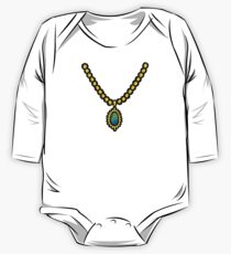 Necklace Shirt One Piece - Long Sleeve