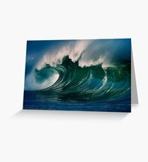 Winter Waves At Waimea Bay 2 Greeting Card