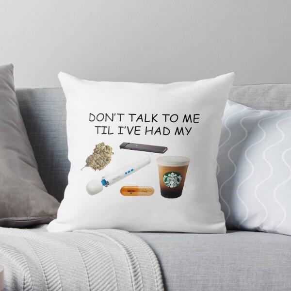 Mornings Throw Pillow