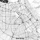 San Jose Karte Grau von HubertRoguski