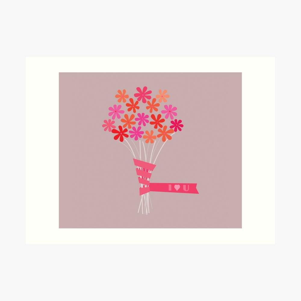 Flowers for You! Art Print