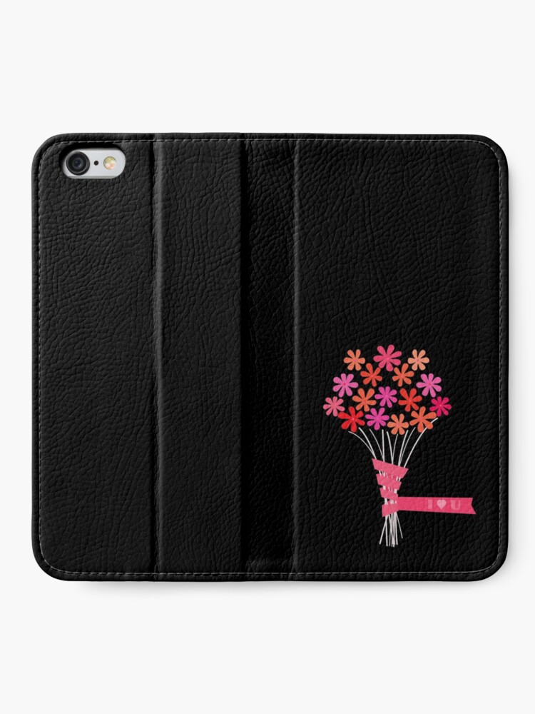 Alternate view of Flowers for You! iPhone Wallet