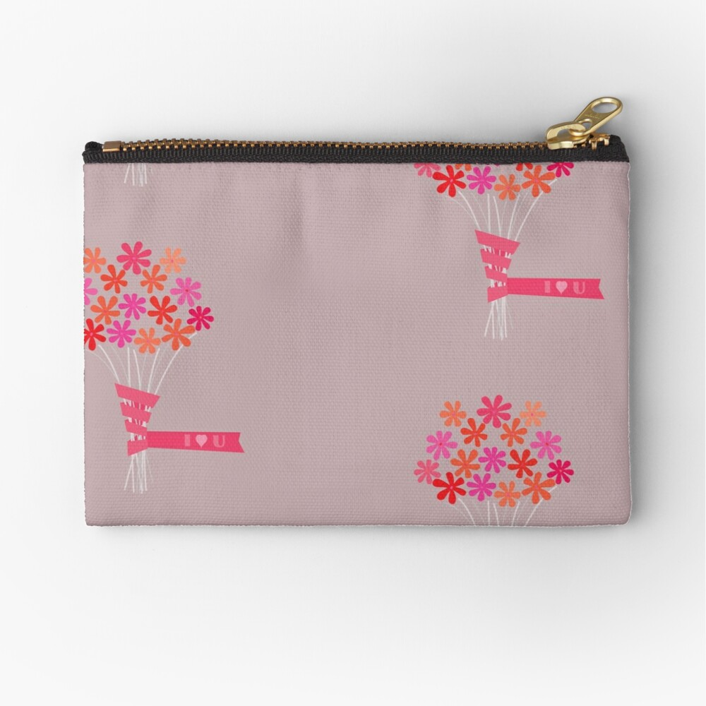 Flowers for You! Zipper Pouch