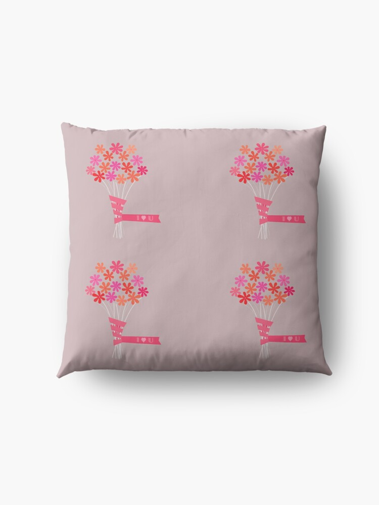 Alternate view of Flowers for You! Floor Pillow