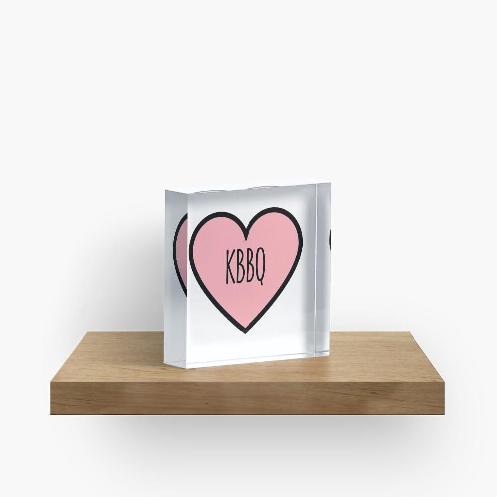 KBBQ Heart Acrylic Block