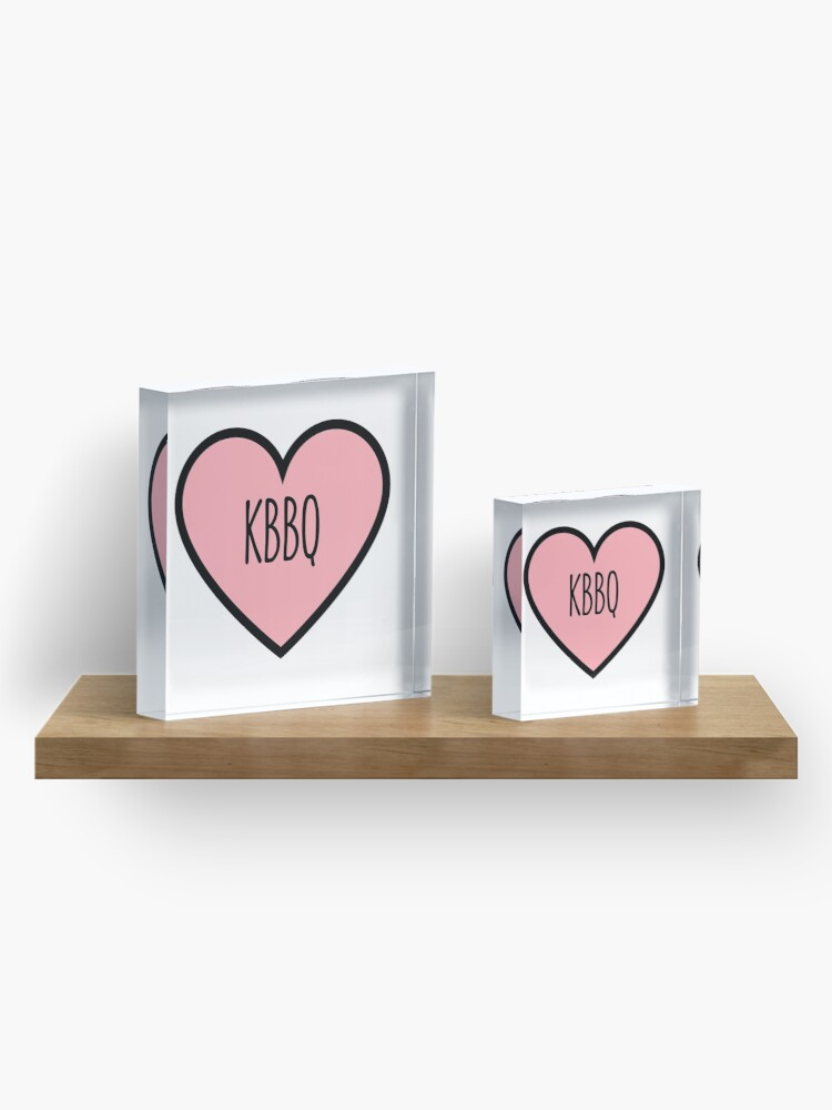Alternate view of KBBQ Heart Acrylic Block
