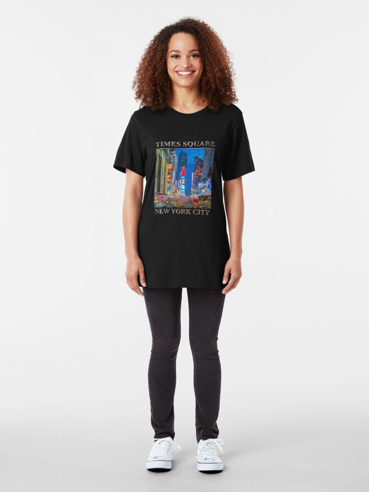 Alternate view of Times Square (Broadway) Slim Fit T-Shirt