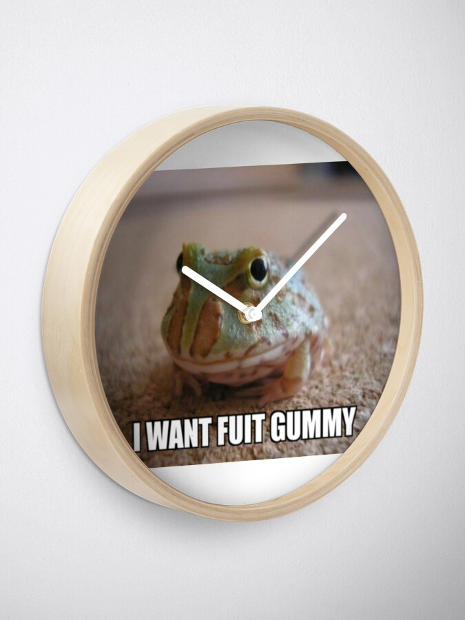 I Want Fuit Gummy Clock By Kylesmhh Redbubble Bulk bag of flavored gummy rainforest frogs. i want fuit gummy clock by kylesmhh redbubble