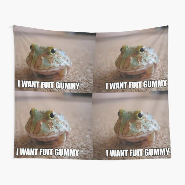 Fuit Gummy Tapestries Redbubble It is unknown why when attacking it holds a sprite cranberry instead of a gummy pack. fuit gummy tapestries redbubble