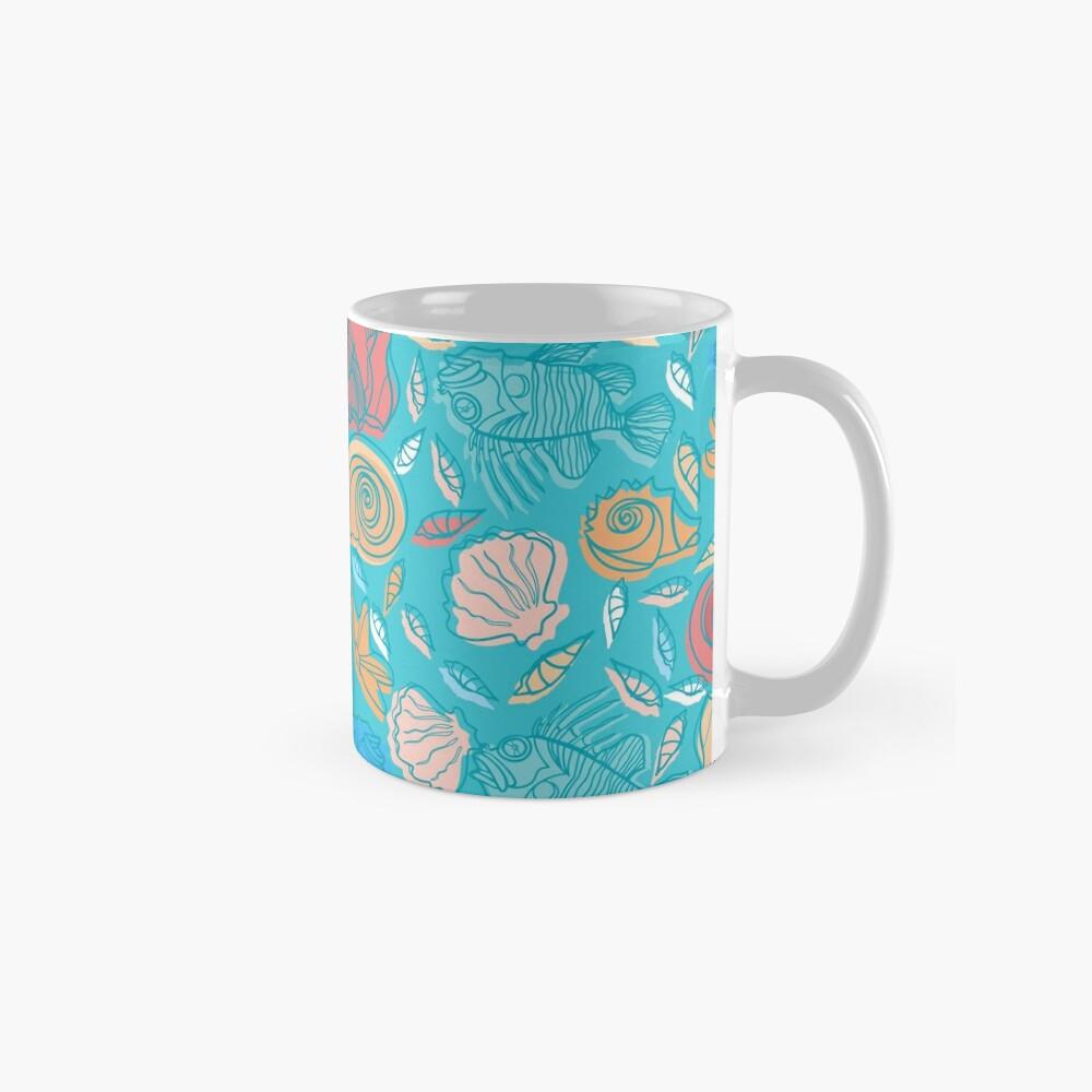 Shells and Fish Pattern Mug