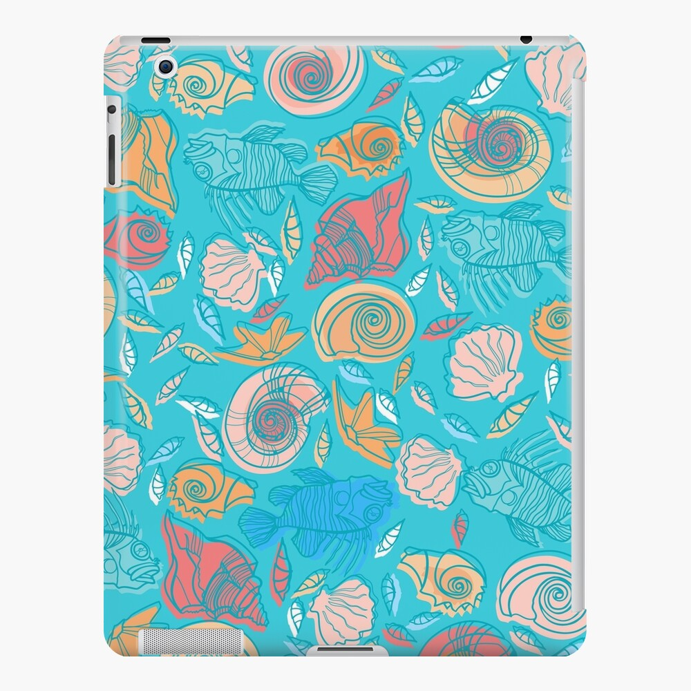 Shells and Fish Pattern iPad Case & Skin