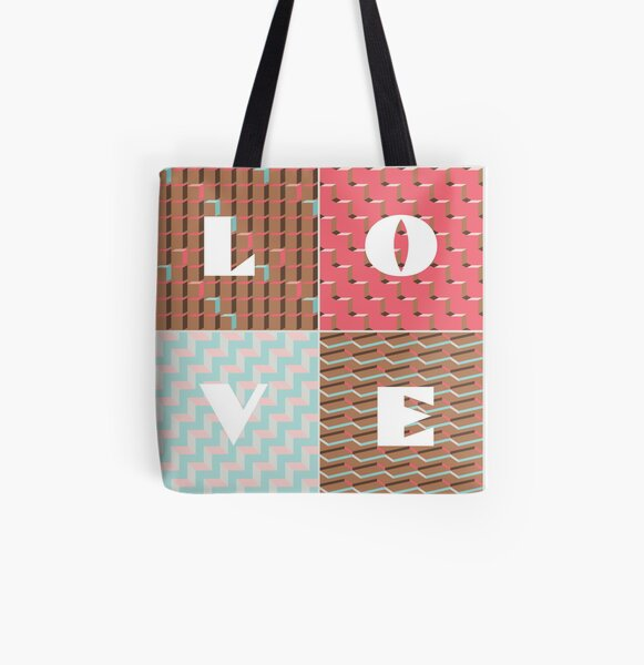 LOVE All Over Print Tote Bag