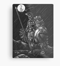 Lost comrades under the moon Metal Print