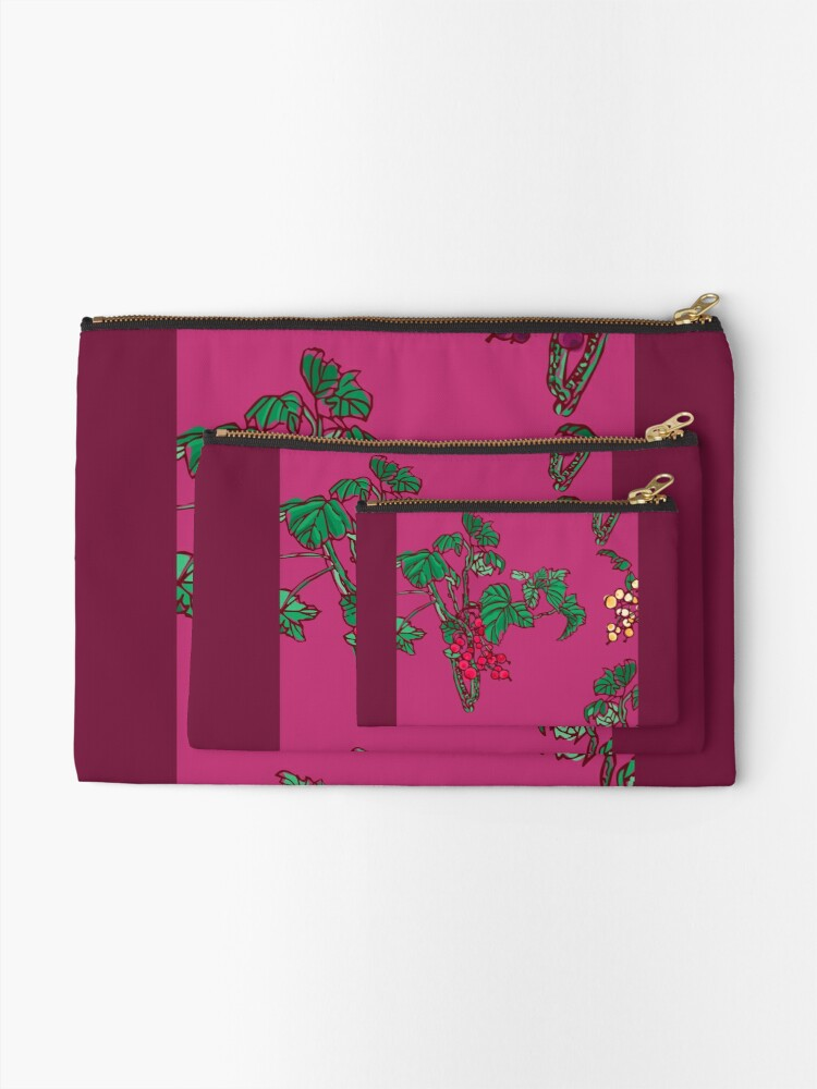 Alternate view of Currant Zipper Pouch