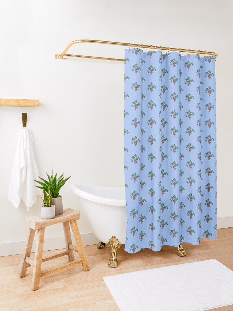 Alternate view of Currant Shower Curtain