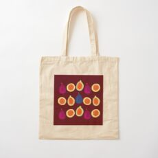 Sweet Fig Cotton Tote Bag