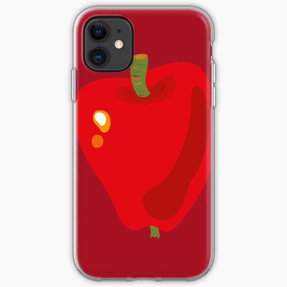Red Apple iPhone Soft Case