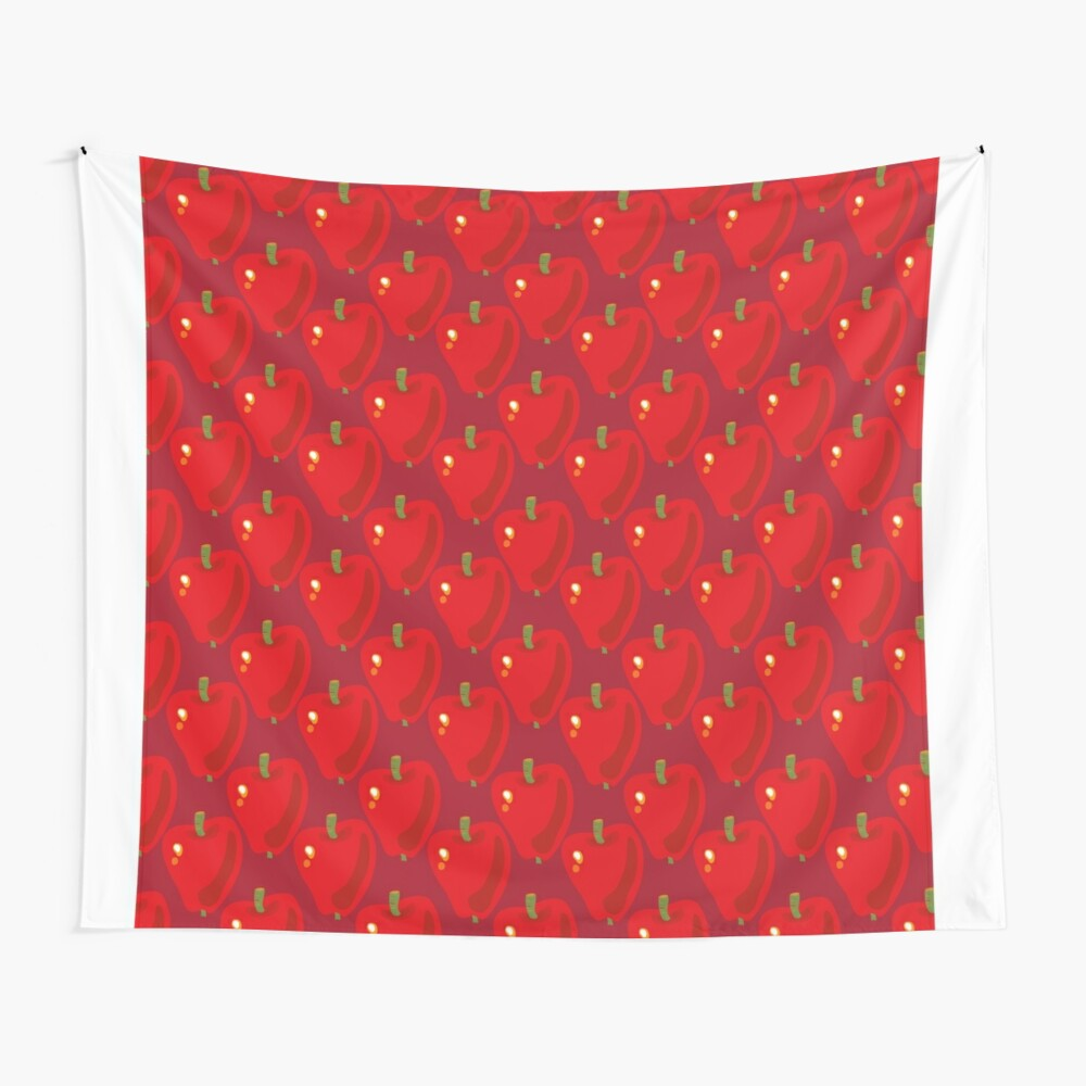 Red Apple Wall Tapestry