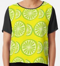 Lime Chiffon Top