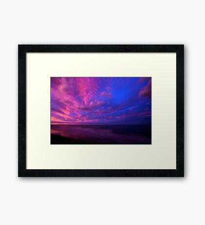 Opposing the sunset Framed Print