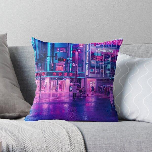 Neon Nostalgia Throw Pillow