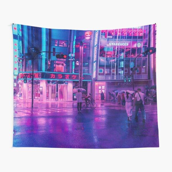 Neon Nostalgia Tapestry