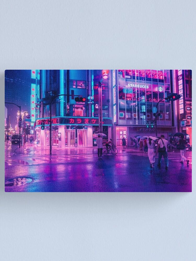 Alternate view of Neon Nostalgia Canvas Print