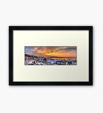 Swiss Winter Sunset Framed Print