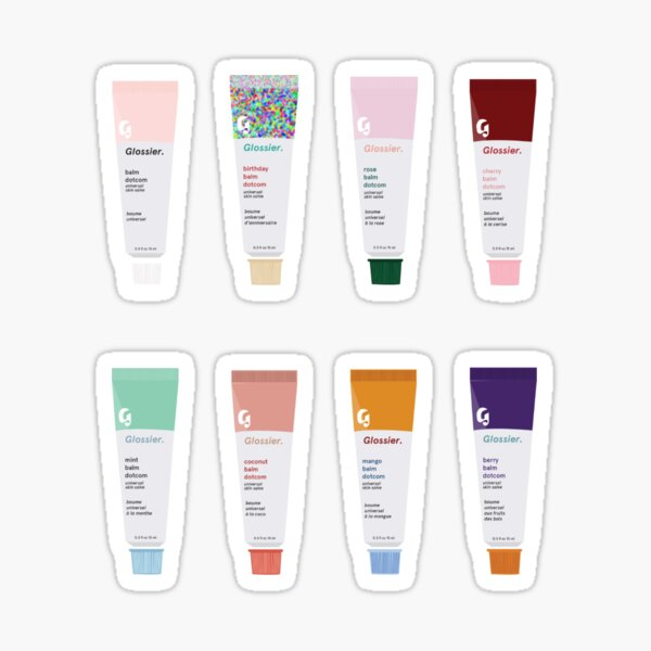 glossier balm dotcom set Sticker