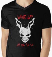 Camiseta para hombre de cuello en v Wake Up Donnie
