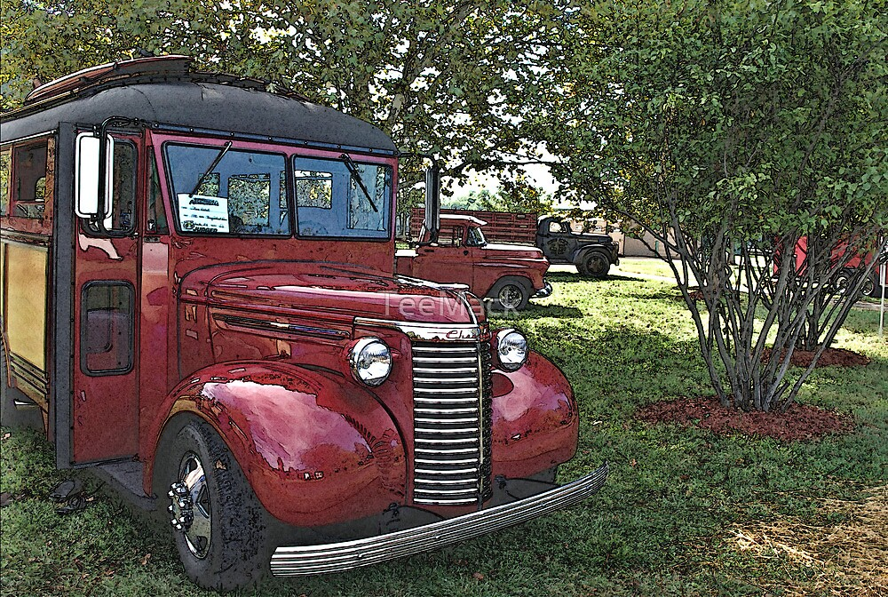 "1940 Chevrolet School Bus ""Surfer's Camper"" Special by TeeMack"