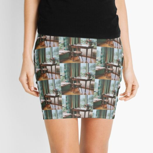 At the Gramps - Oil painting on canvas Mini Skirt
