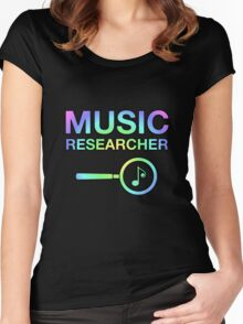 Music Researcher Women's Fitted Scoop T-Shirt