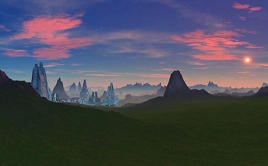 Kalees Deemis - City in the Mist by AlienVisitor