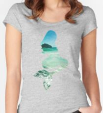 Mermaid ocean beach boho cool trendy pretty design Women's Fitted Scoop T-Shirt
