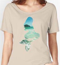 Mermaid ocean beach boho cool trendy pretty design Women's Relaxed Fit T-Shirt