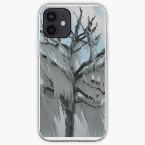 TREE COVERED IN ICE DURING A WINTER STORM-PILLOWS-TOTE BAG-TEE SHIRT- CARD- PICTURE ECT... iPhone Soft Case