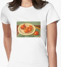 Plate with onions Women's Fitted T-Shirt