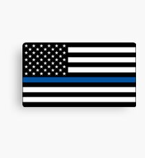 Thin Blue Line Canvas Print