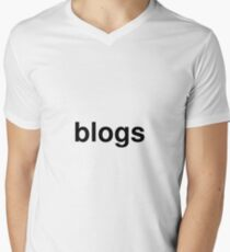 blogs Men's V-Neck T-Shirt