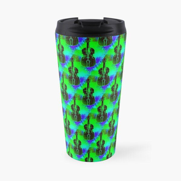 Violins with colorful background Travel Mug