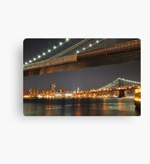 Brooklyn and Manhattan Bridge Canvas Print