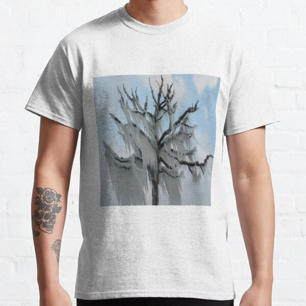 TREE COVERED IN ICE DURING A WINTER STORM-PILLOWS-TOTE BAG-TEE SHIRT- CARD- PICTURE ECT... Classic T-Shirt