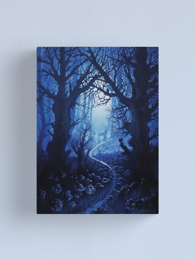 Alternate view of Woodland Stream Gathering Canvas Print