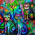 Metropolitan cats (detail ) by Karin Zeller