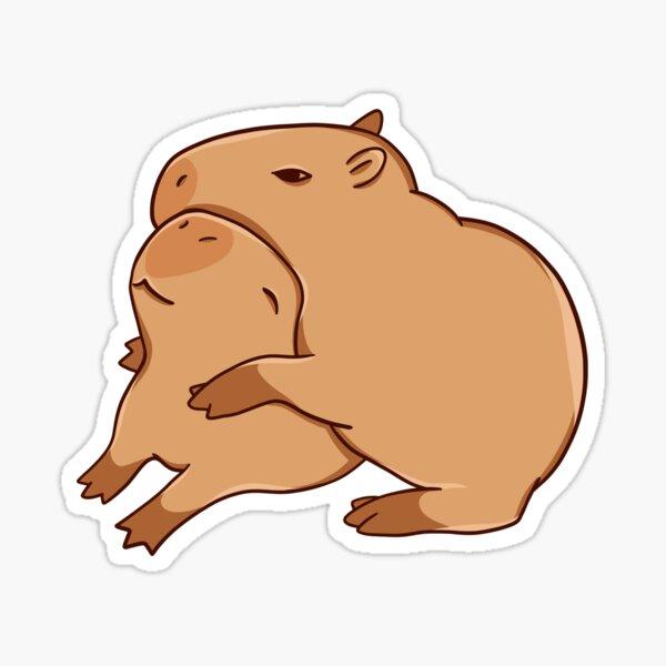 Hugging Capybaras Sticker