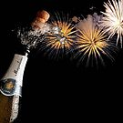 Champagne And Fireworks Celebration by taiche