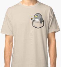 Pocket penguin enjoying ice cream Classic T-Shirt