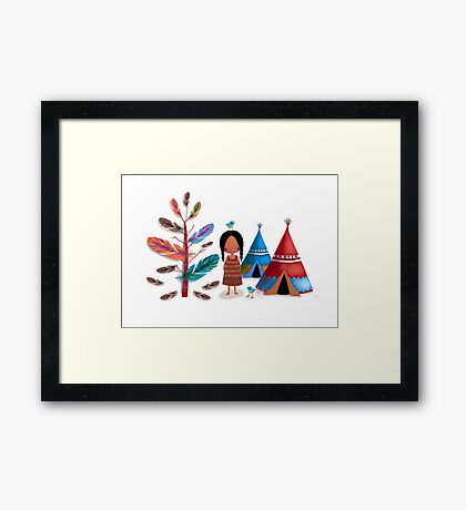 The Feather Tree Framed Print